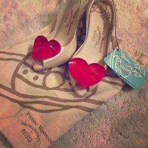 Vivienne Westwood Heart Shoes - never worn